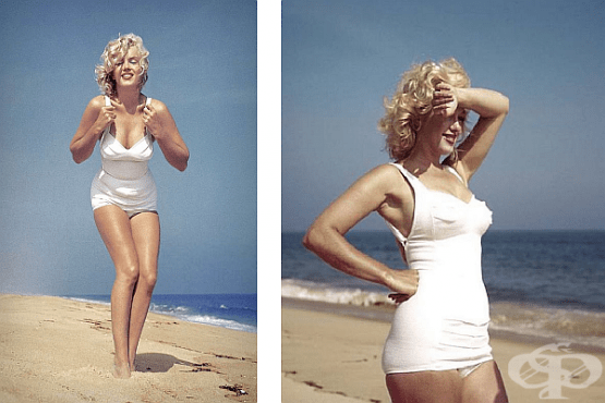 17 снимки на Мерилин Монро на плажа, заснети от Сам Шоу през 1957 г. - изображение