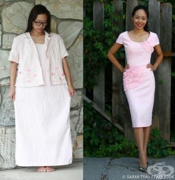 Дизайнер – любител превръща старите дрехи в съвременни облекла - изображение