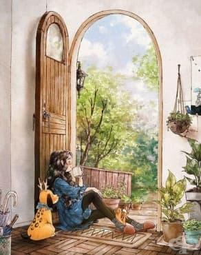 Корейска художничка доказва, че самотните хора могат да бъдат щастливи - изображение