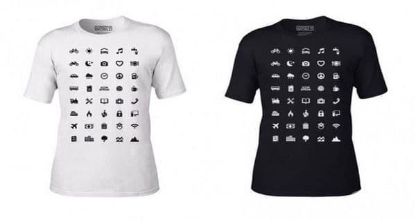 Оригинални тениски с разнообразни икони помагат на туристите в сложни ситуации - изображение