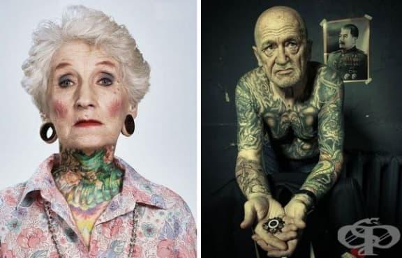 Замисляли ли сте се за татуировките в напреднала възраст? Разгледайте - изображение