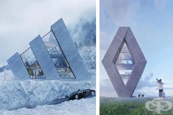 Полски архитект създава серия от къщи, вдъхновени от известни лога - изображение