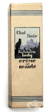 """Крем """"Chat Noir"""", производство на Ил. Халачев, София, началото на 20 век - изображение"""