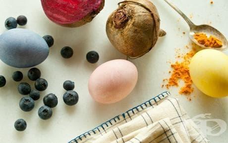 Естествени бои за Великденски яйца - изображение