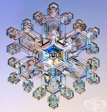 Снежинки под микроскоп - изображение
