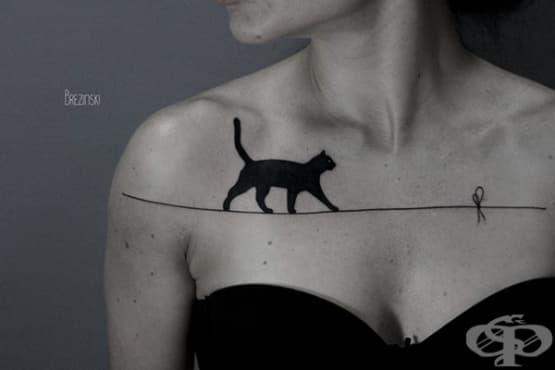 15 от най-добрите идеи за татуировки с котки - изображение