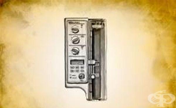 Апарат за интравенозни инфузии на аналгетици, въведен през 1968 година - изображение