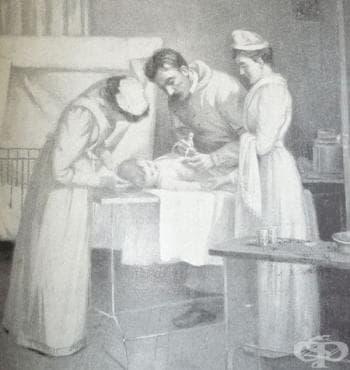Откриване на дифтерийния антитоксин през 1890г. - изображение