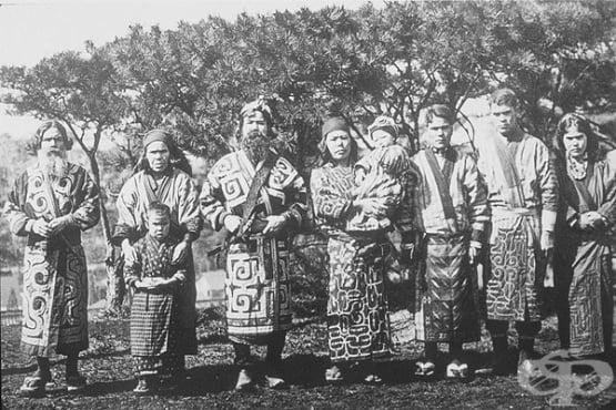 Айни – коренното население на Япония, притежаващо европеидни черти - изображение