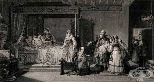 Английска представа за домашните раждания до 17 век - изображение