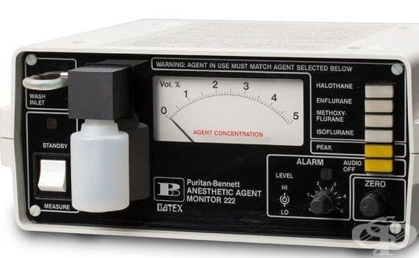 Апарат, измерващ показателите на отделните упойки от 1984 година - изображение