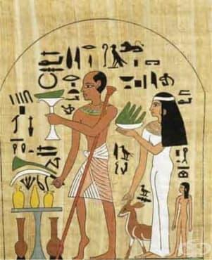 Древноегипетски здравеносни божества и писмени трудове от около 2600 г. пр.Хр. - изображение