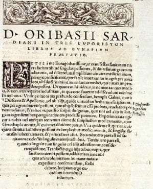 """Описание и естество на аневризмите в """"Synagogae Medicae"""" на византийския медик Орибасий - изображение"""