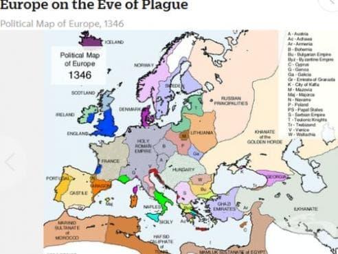 Европа в навечерието на епидемията от чума - изображение