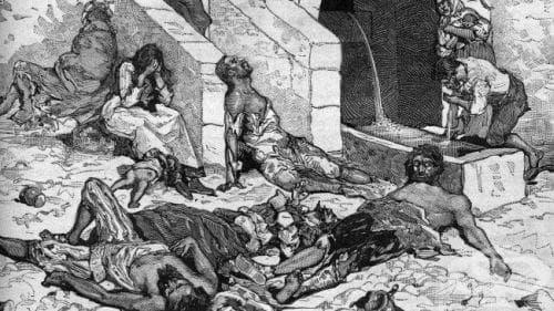 Европа в разгара на епидемията от чума - изображение