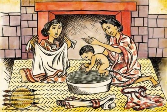 Грижи за жените по време на бременността и раждането в Империята на ацтеките  - изображение