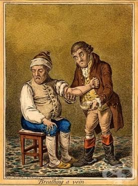 Хирургически инструменти за кръвопускане - изображение