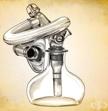 Инхалатор за прием на анестетици на Жозеф Шарие от 1847 година - изображение