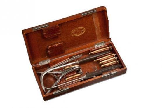 Комплект за интубация по Одуайър от 1891 година - изображение