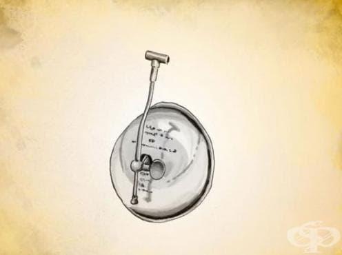 Назален инхалатор за прием на анестетици на д-р Дефорд от 1912 година - изображение