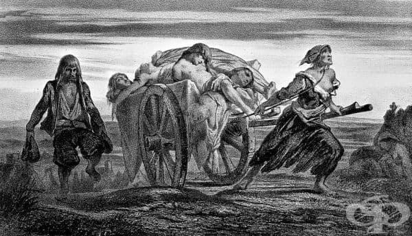 Опити на средновековна Англия да контролира епидемията от чума - изображение