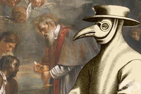 Теория за въздушно-капковото разпространение на чума в Англия - изображение