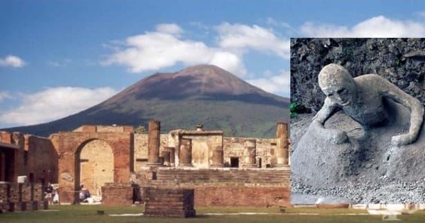 Легендарното изригване на Везувий през 79 г. и унищожаването на Помпей - изображение