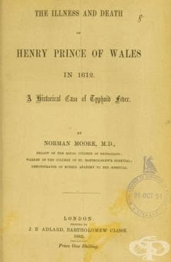 Първият случай на коремен тиф в Англия  - изображение