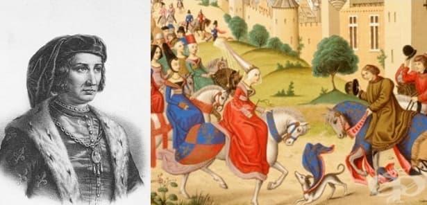 Лудостта на френския крал Шарл VI, който вярвал, че е направен от стъкло и отказвал да се къпе - изображение