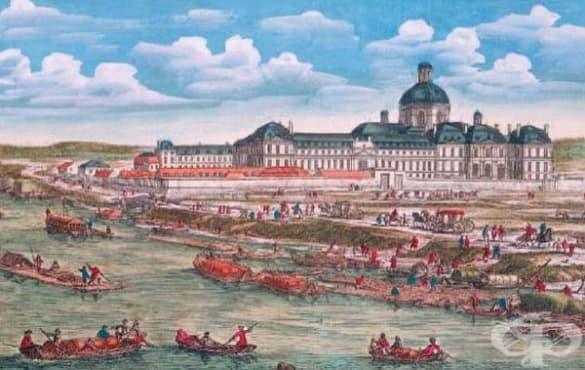 """Създаване на парижката университетска болница """"Салпетриера"""" през 17-ти век  - изображение"""