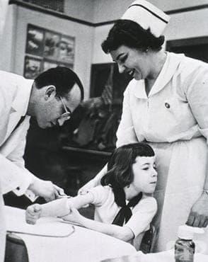 Създаване на първата ваксина срещу полиомиелит  - изображение
