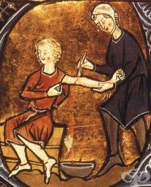 Трудове, личности и теории от миналото, описващи лечебното кръвопускане и артериотомията - изображение