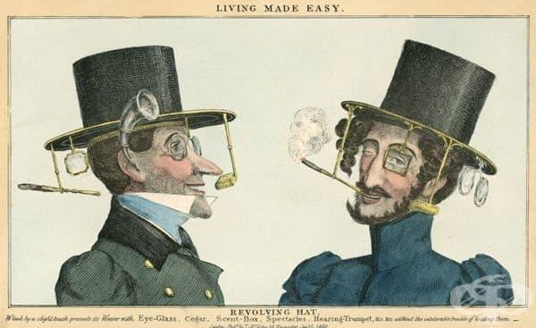 Употреба на очилата за корекция на зрението през 19 век  - изображение