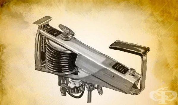 Вентилатор за изкуствено дишане на Етсен от 1950 година - изображение