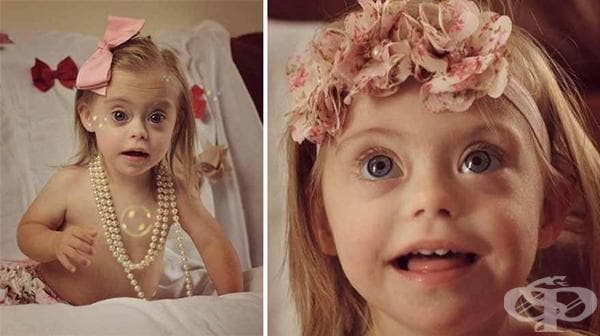2-годишната Кони-Роуз със синдром на Даун става модел заради невероятната си усмивка - изображение