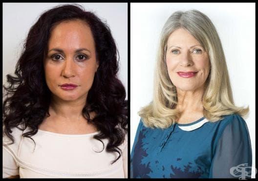 Тези две жени имат стратегия срещу бръчките: едната никога не се усмихва, а другата обратното (галерия) - изображение