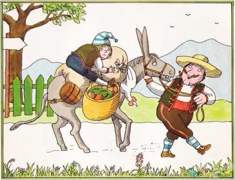 Притча за бащата, сина и магарето - изображение