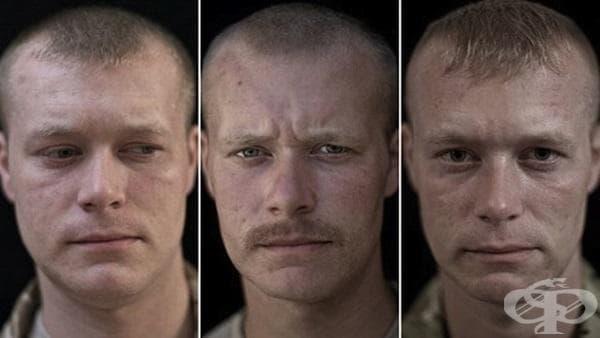Портрети на военни преди, по време и след войната - изображение