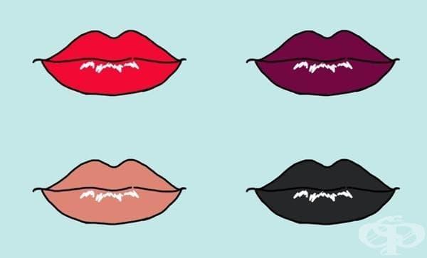 Какво издава цветът на червилото ви? - изображение