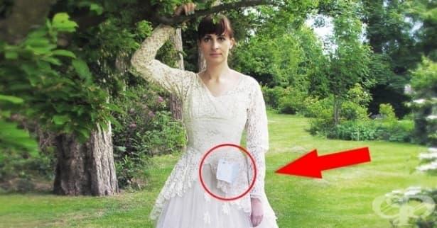 Възрастен мъж дарява сватбената рокля на съпругата си с трогателно послание - изображение