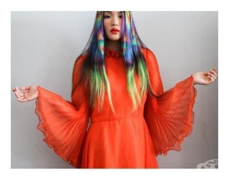 """""""Бебешка дъга"""" за коса е най-свежият фестивален тренд, който сте виждали - изображение"""