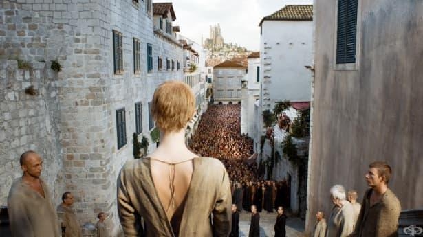 """""""Походът на срама"""" в """"Игра на тронове"""" е вдъхновен от средновековно наказание - изображение"""