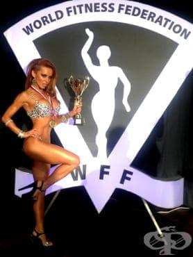Анн-Джи със златен медал от Световното първенство по фитнес и бодибилдинг за 2013 - изображение