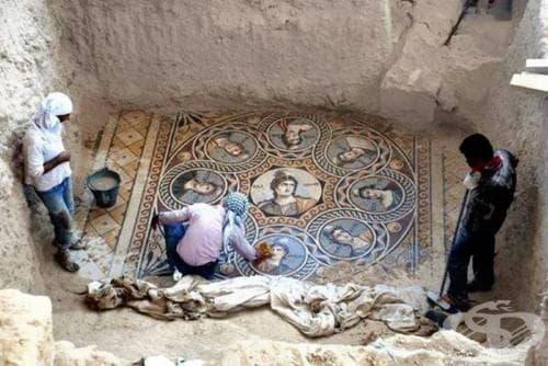Вижте възхитителните антични мозайки на над 2000 години, които археолозите отвоюваха от водите на турския язовир Биречик - изображение