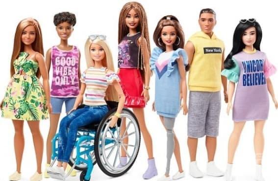 С инвалидна количка и протеза – новите образи на кукла Барби - изображение