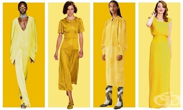 Дългата жълта рокля ще бъде хит през пролетния сезон на 2019 - изображение