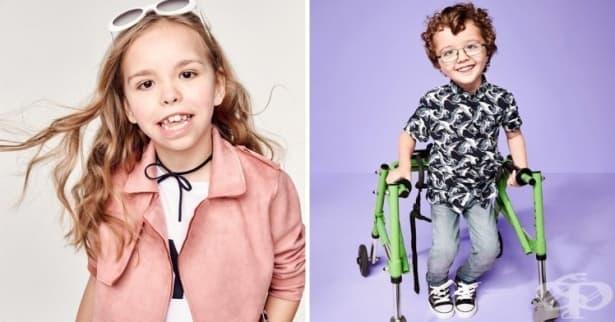 Деца с увреждания позират за модна кампания във Великобритания - изображение