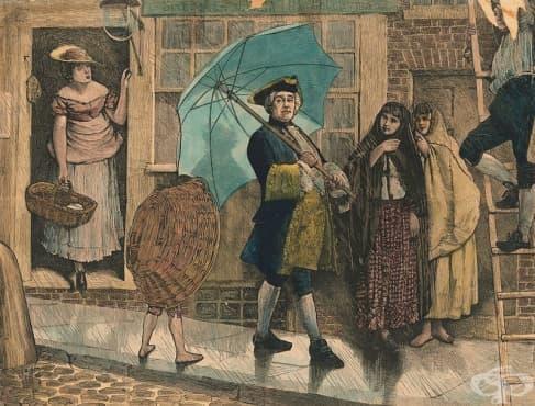 Социалният грях на един британец: Да носиш чадър за първи път по дъждовните лондонски улици - изображение