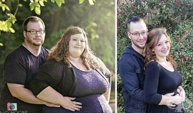 Как взаимните подкрепа и мотивация помагат на една двойка да отслабне общо с 179 кг. само за 18 месеца - изображение