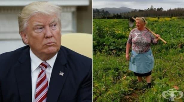 Испанка с мотика на рамо – двойник на Доналд Тръмп - изображение
